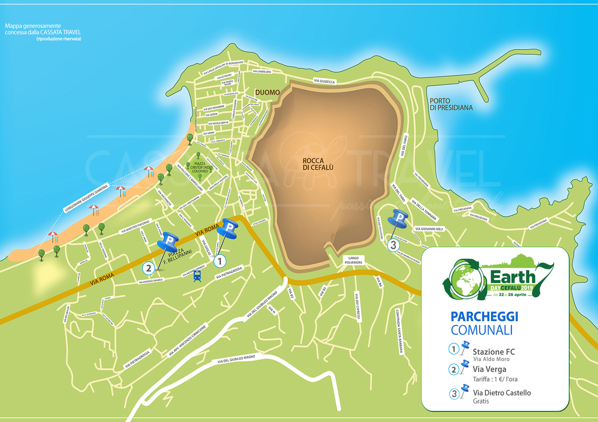 Where to park at Cefalu